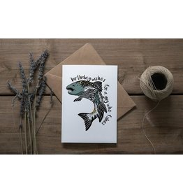 Mountain Mornings Fisherman Card