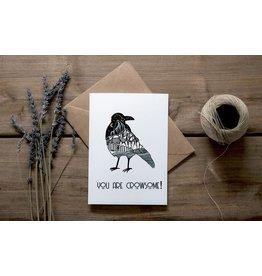 Mountain Mornings Crow Card