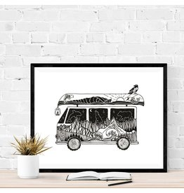 Mountain Mornings Camper Van Print (without frame)