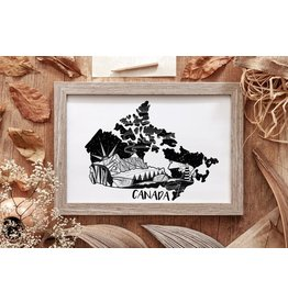 Mountain Mornings Canada Map Print (without frame)