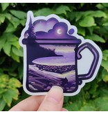 Amanda Key Design Beach Night Mug Vinyl Sticker 3""