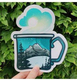 "Amanda Key Design Winter Mug Vinyl Sticker 6"""