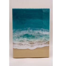 "West Coast Resin Art Large Wall Art Waves 12""x16"""