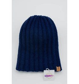 Tillys Cozy Hooks Navy Slouchy Toque