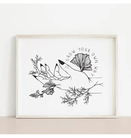 2humans1pooche Grow Your Own Way Print