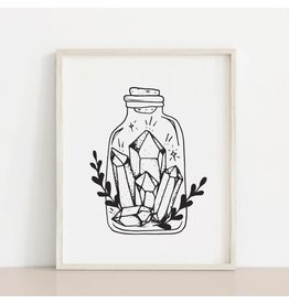 MELI.THELOVER Crystals in a Bottle Print