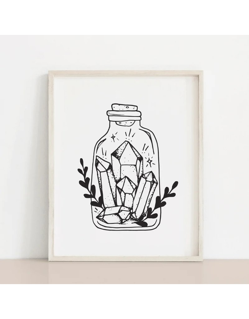 Melina Crystals in a Bottle Print