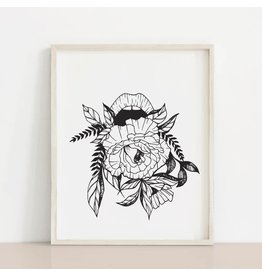 2humans1pooche That Mouth Floral Print