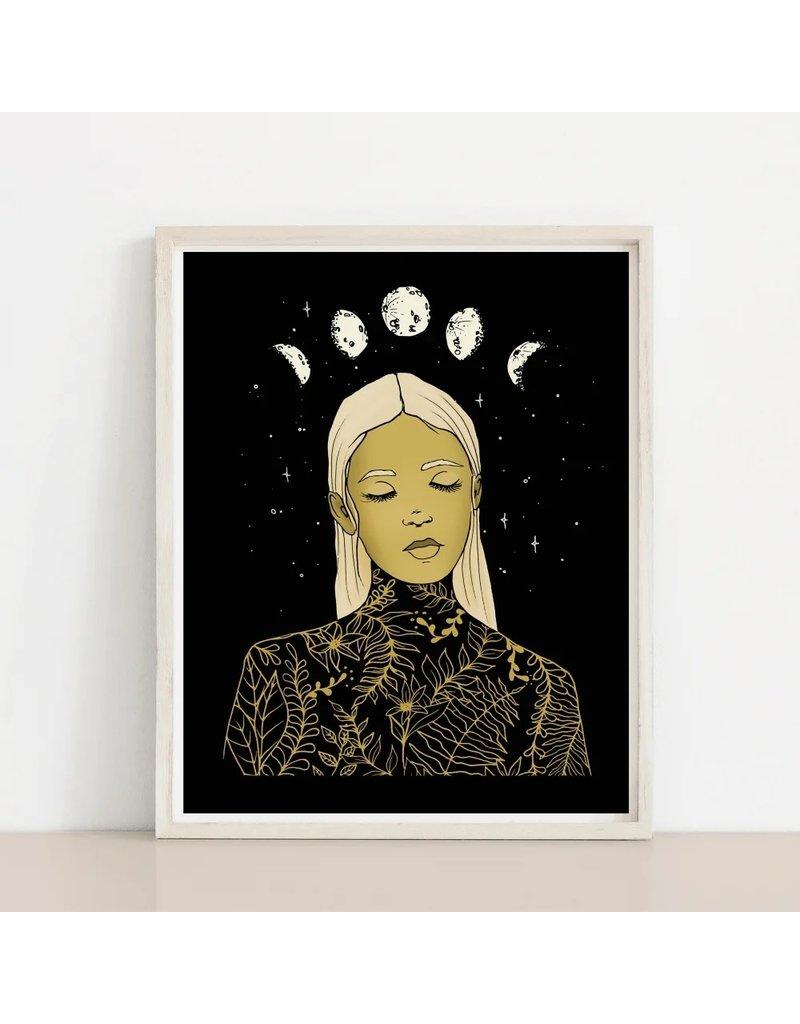 Melina Blossoming Dark Print
