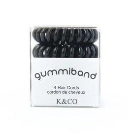 GummiBand Black Hair Cords