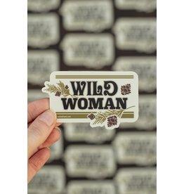 Amanda Weedmark Wild Woman Vinyl Sticker
