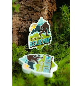 Amanda Weedmark Bigfoot Believe Vinyl Sticker