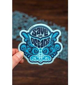 Amanda Weedmark Save the Oceans Vinyl Sticker
