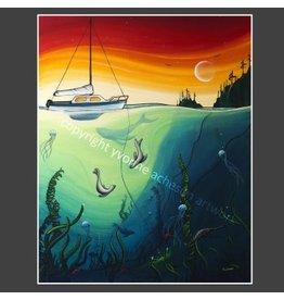 """Yvonne Acheson Art """"Anchor"""" Greeting Card"""