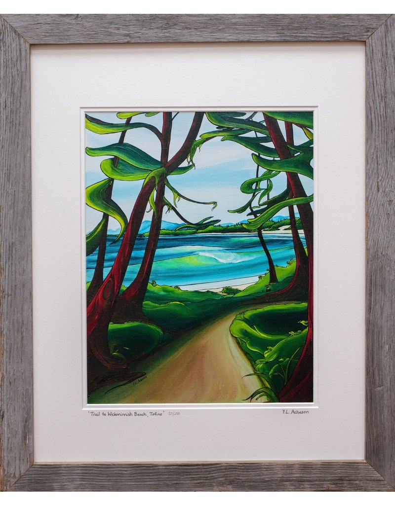 "Yvonne Acheson Art ""Trail to Wickaninnish Beach Tofino"" Large Framed"