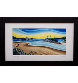 """Yvonne Acheson Art """"Ebb Tide"""" Large Framed"""