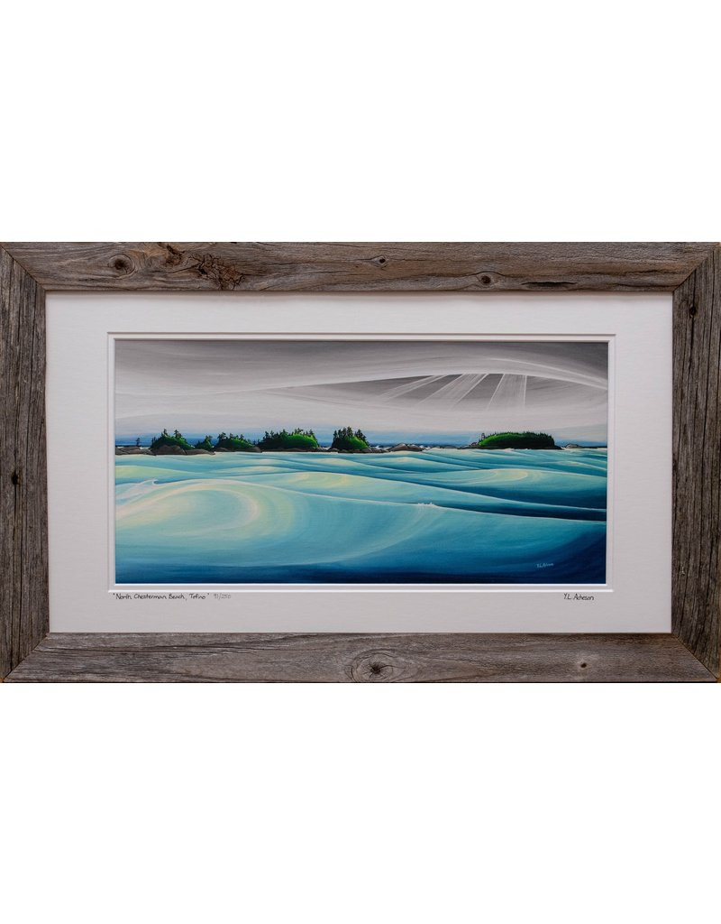 "Yvonne Acheson Art ""North Chesterman Beach, Tofino"" Large Framed"
