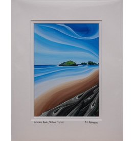 "Yvonne Acheson Art ""Lovekin Rock, Tofino"" Medium Framed"