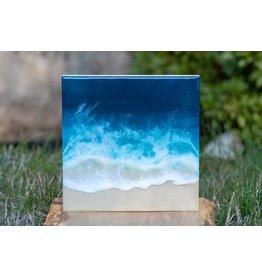 West Coast Resin Art Dark Blue Ocean Wall Art