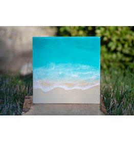 West Coast Resin Art Teal Ocean Wall Art