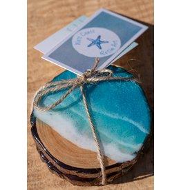 West Coast Resin Art Live Edge Wood Coasters