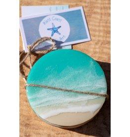 West Coast Resin Art Set of 4 Coasters Option 5
