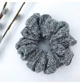 Lanna+Co Ribbed Heather Grey Scrunchie