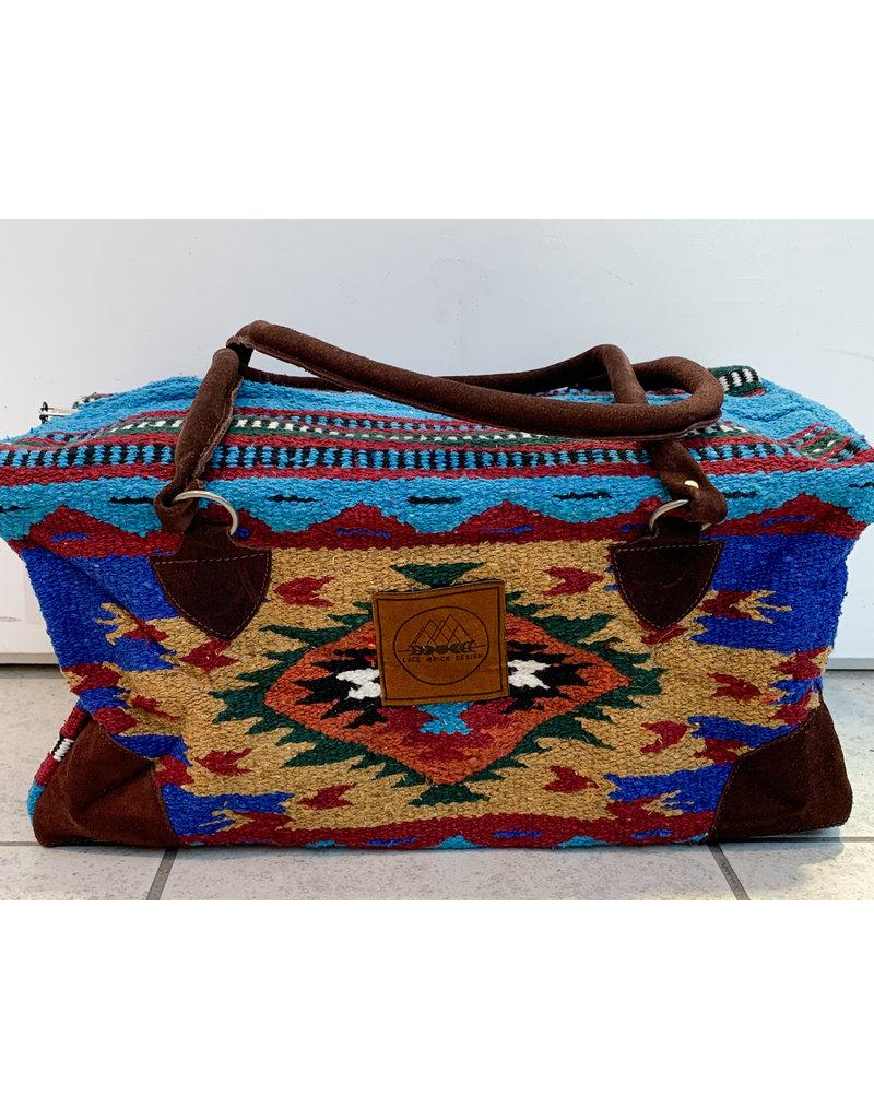 Lace Brick Designs Royal Blue Overnighter Bag