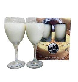 Backwoods Soap & Co Egg Nog Wine Glass Set