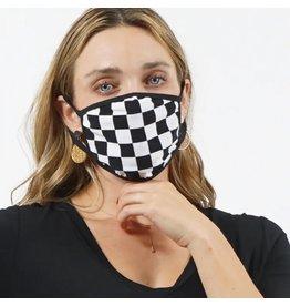 Cultured Coast Checker Print Mask