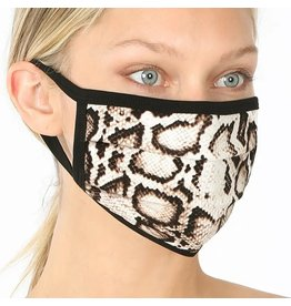 Cultured Coast Snake Print Mask