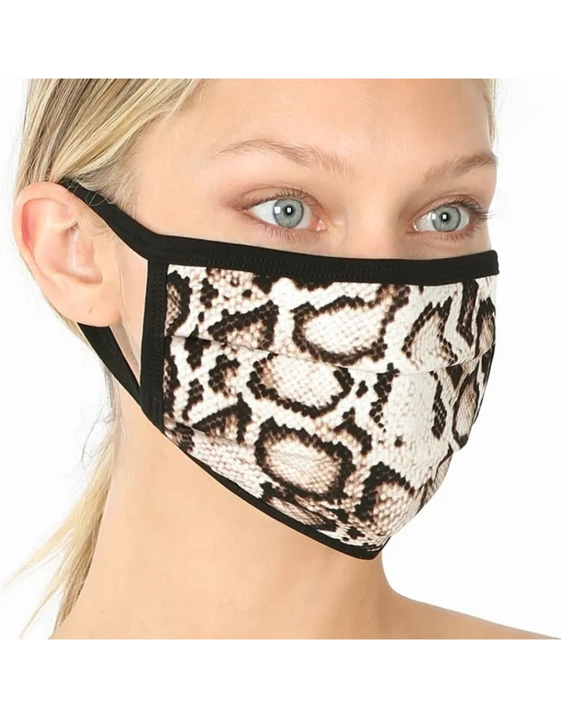 Cultured Coast Snake Print Mask
