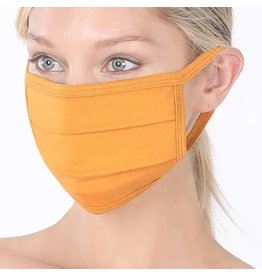 Cultured Coast Ash Mustard Pleated Mask
