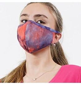 Cultured Coast Coral Purple Tie-Dye Mask