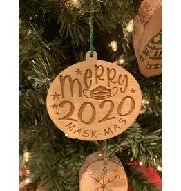 JD Ornaments Merry 2020 Maskmas Ornament