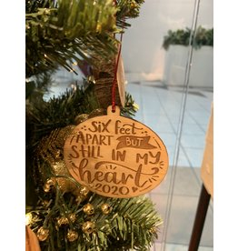 JD Ornaments 6 Feet Apart Ornament