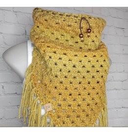 Tillys Cozy Hooks Triangle Cowl Mustard