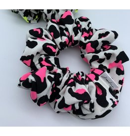 Josefina + Co Hot Pink Leopard Scrunchie