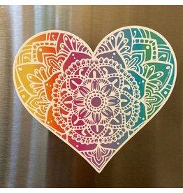 West Coast Karma Light Rainbow Heart Magnet