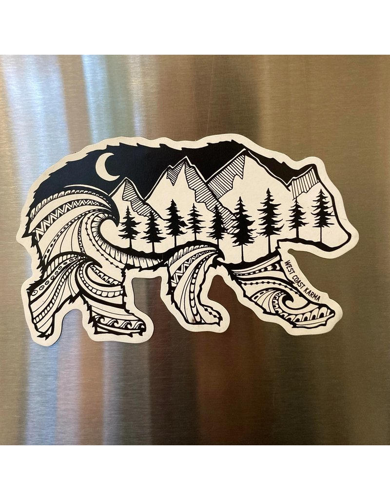 West Coast Karma Spirit Bear Magnet