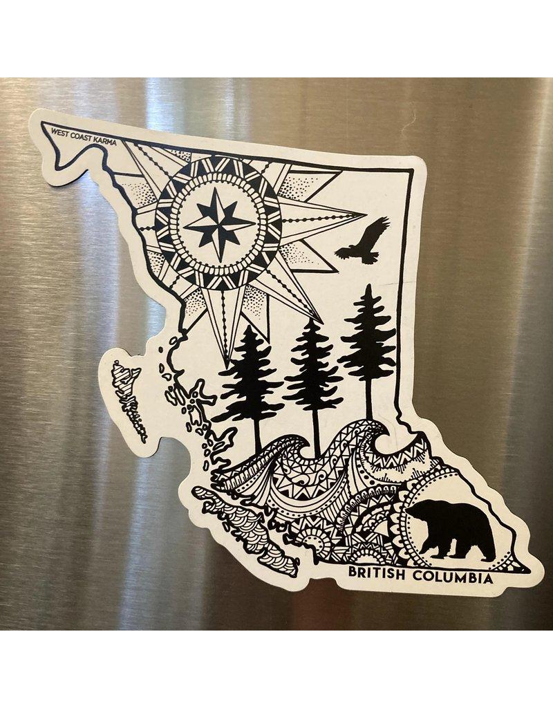 West Coast Karma BC Magnet