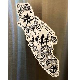 West Coast Karma VI Magnet