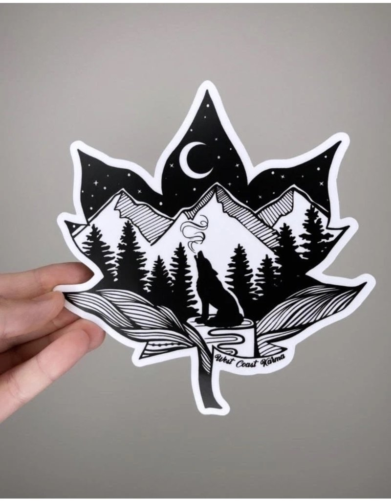 West Coast Karma Maple Wolf Sticker