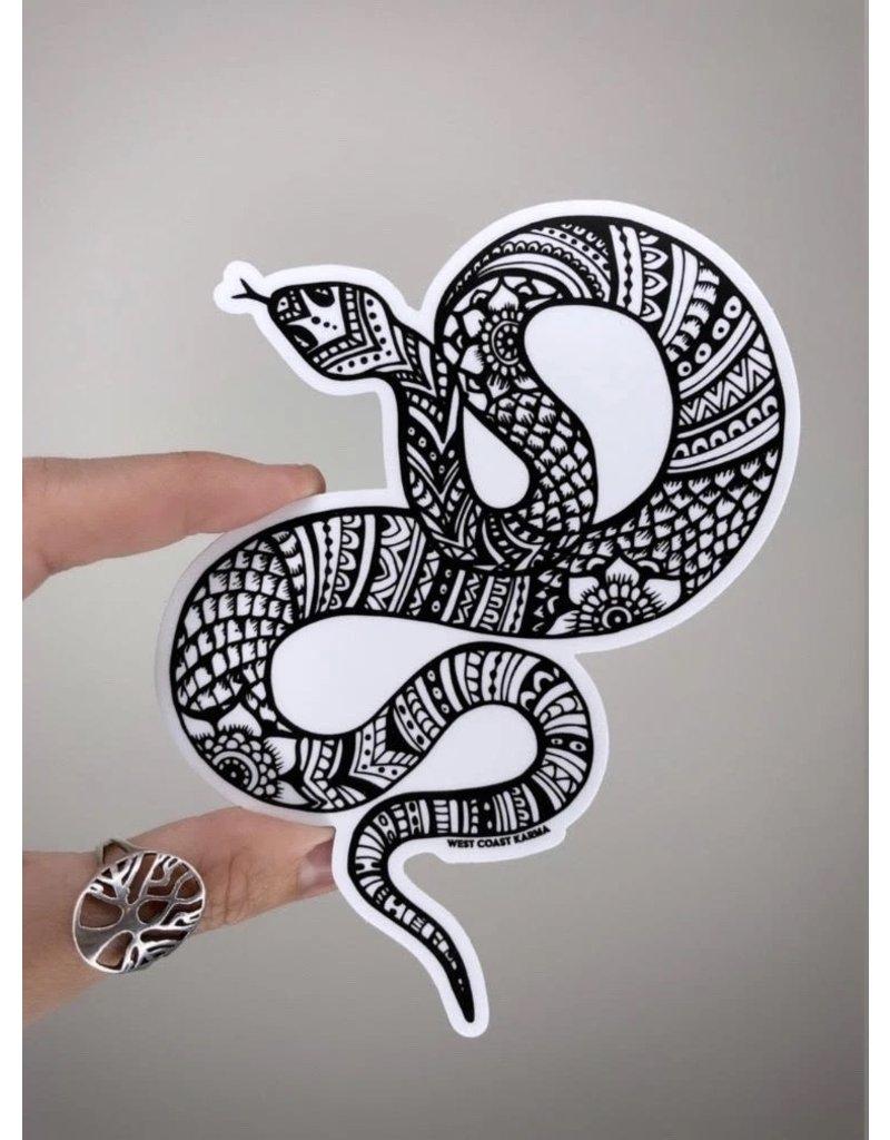 West Coast Karma Snake Sticker