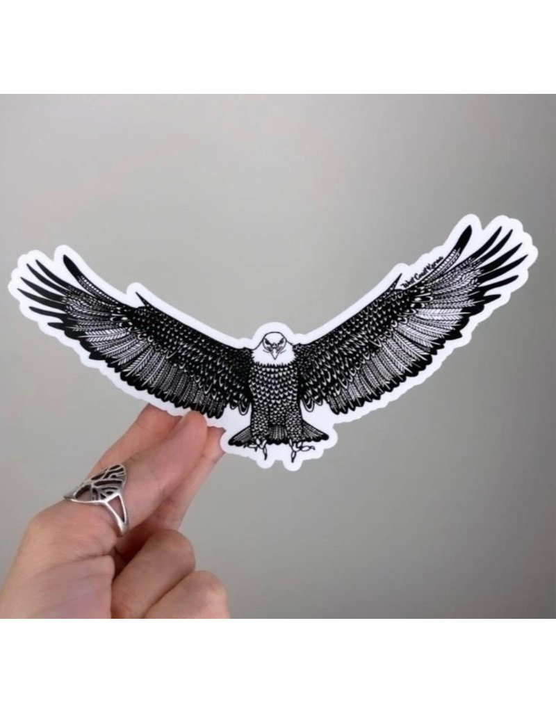 West Coast Karma Soaring Eagle Sticker