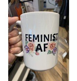 Cultured Coast Feminist AF White 15oz Mug