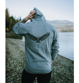 West Coast Karma Eagle Zip up Hoody