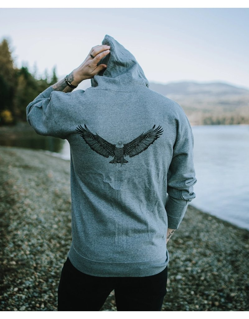 West Coast Karma Eagle Zip up Hoody