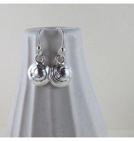 Swallow Jewellery Moon Snail Shell Dangle Earrings (on short hooks)
