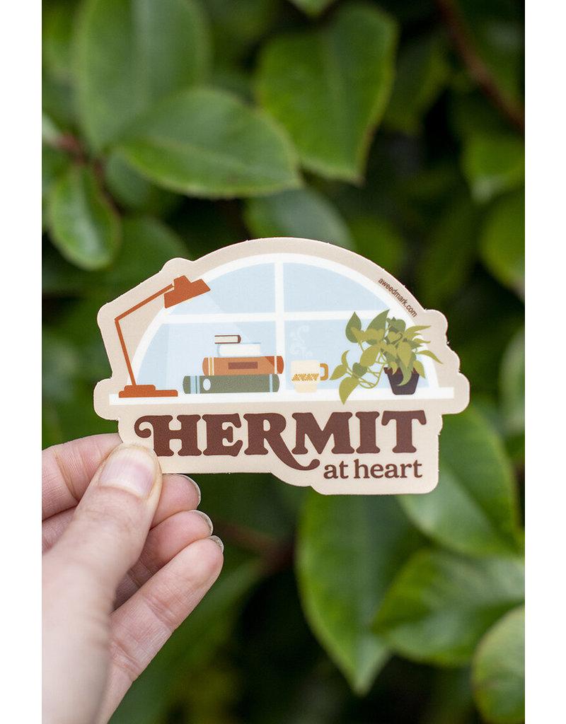 Amanda Weedmark Hermit at Heart Vinyl Sticker